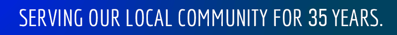 Serving the Local Community for 33 years.